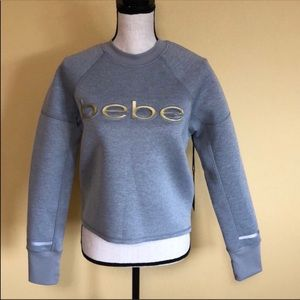 NWT Bebe Gray Sweater size S